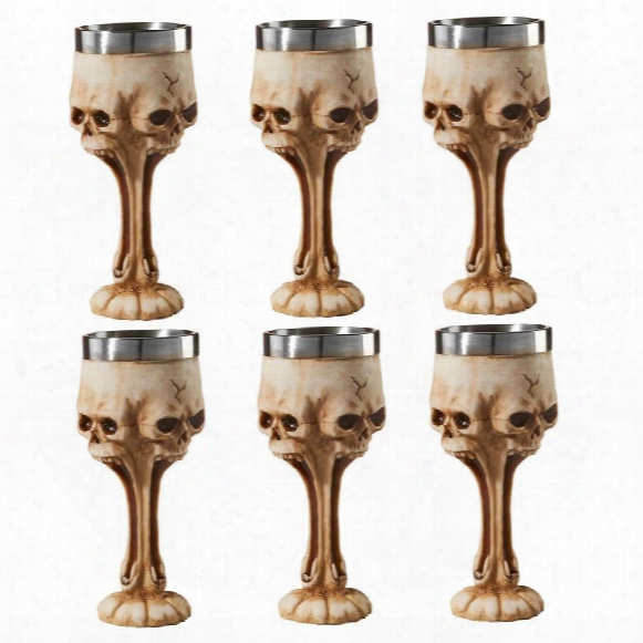 Gothic Scare Skull Goblets: Set Of 6