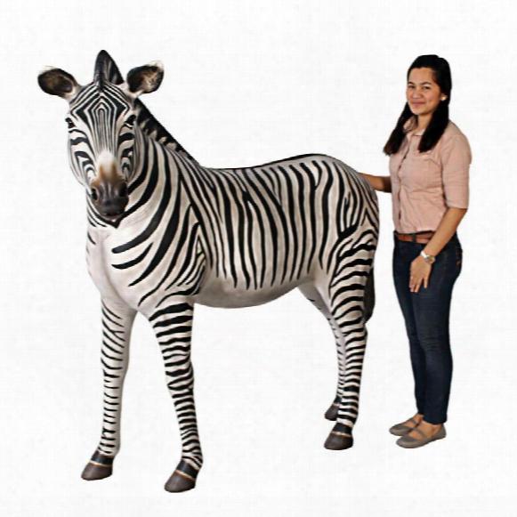 Grand-scale African Zebra Statue