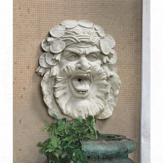 Hafod Mansion Greenman Fountain Wall Sculpture