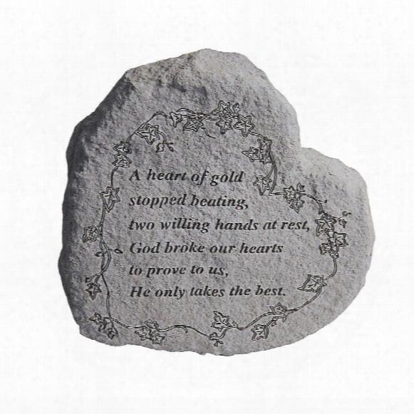 Heart Of Gold: Cast Stone Memorial Garden Marker