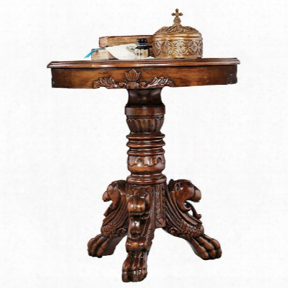 Heraldic Lion Accent Table