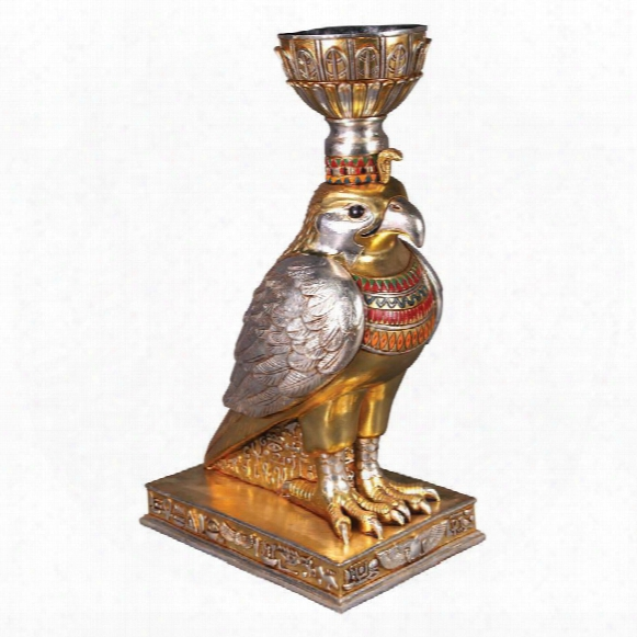 Horus, The Egyptian Winged Falcon: Sculptural Urn