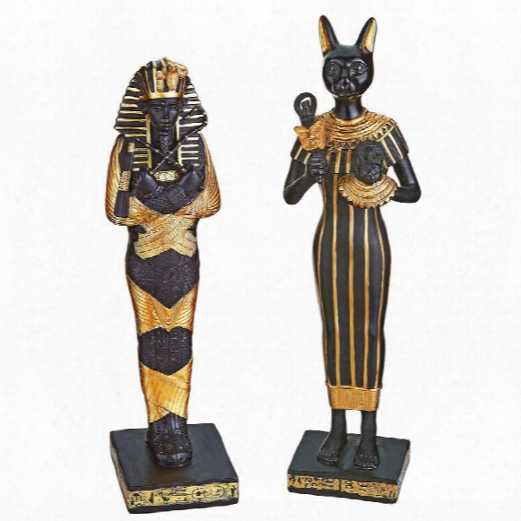Icons Of The Egyptian Realm Collectible Statues: Set Of 2