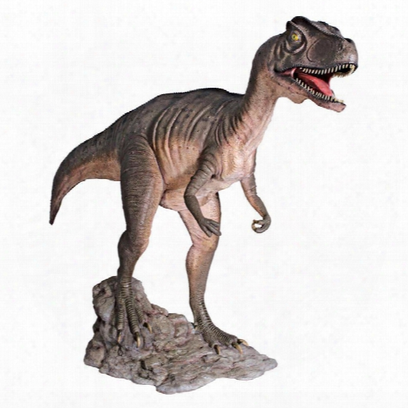 Jurassic-sized Attacking Allosaurus Dinosaur Statue