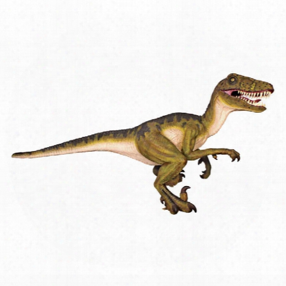 Jurassic-sized Dromaeosaurus Raptor Dinosaur Statue