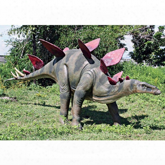 Jurassic-sized Stegosaurus Dinosaur Statue