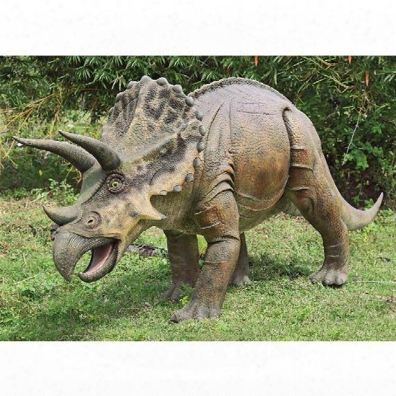 Jurassic-sized Triceratops Dinosaur Statue