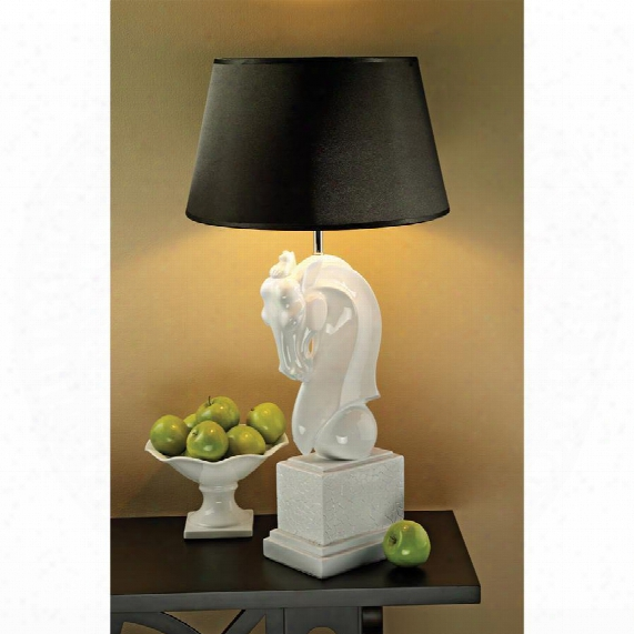 Knightly Horse Bust Table Lamp