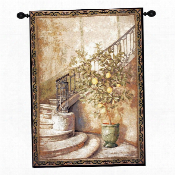 Lemon Stairwell Grand Wall Tapestry