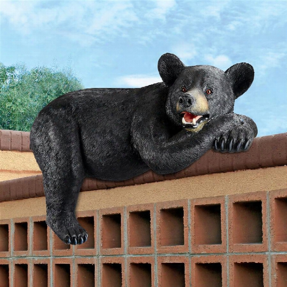 Lemont The Lovable Lounger Black Bear Statue