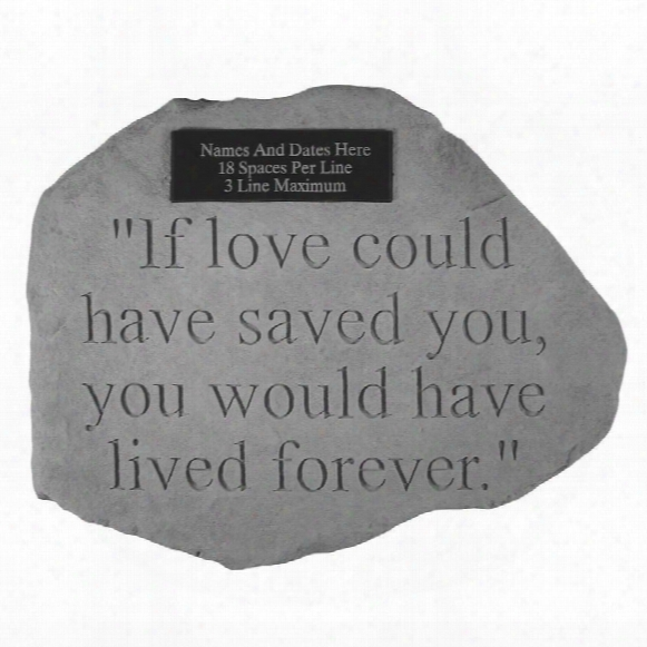 Live Forever Personalized Cast Stone Pet Memorial Statue