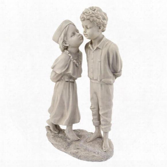 Love's First Kiss Children Garden Statue