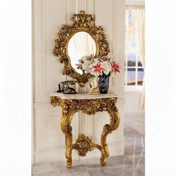 Madame Antoinette Wall Console Table And Salon Mirror