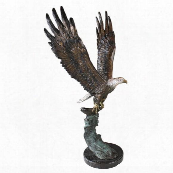Majestic Eagle Cast Bronze Garden Statue