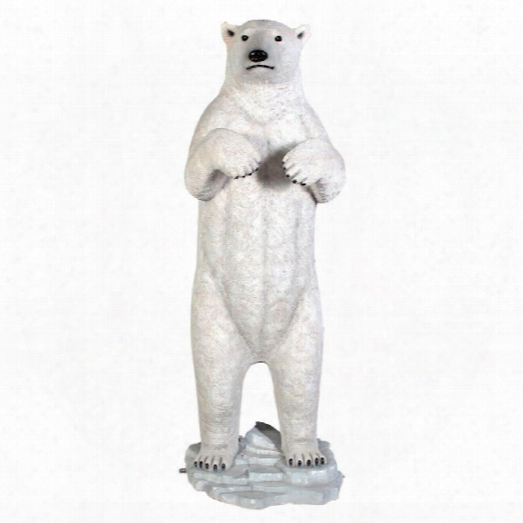 Massive Arctic Polar Bear Garden Statue
