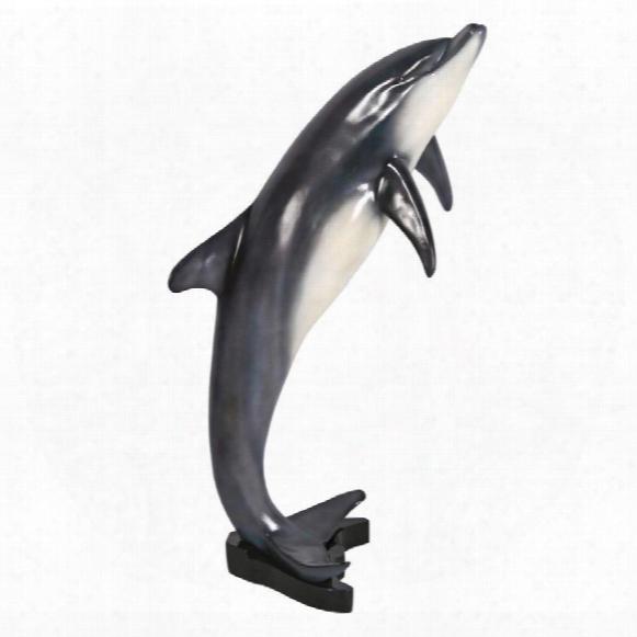 Medium Leaping Sea Dolphni Statue