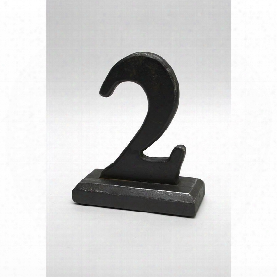 Number 2 Sculptural Typography