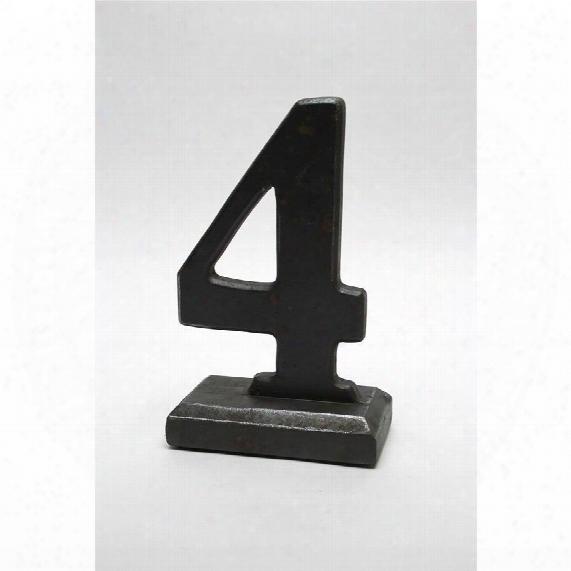 Number 4 Sculptural Typography