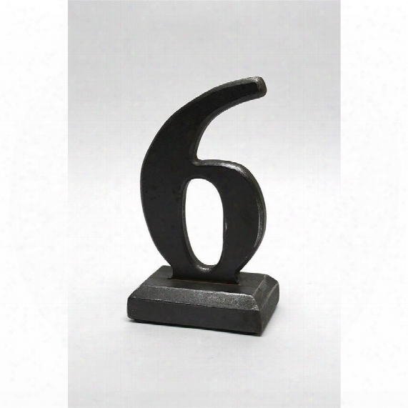 Number 6 Sculptural Typography
