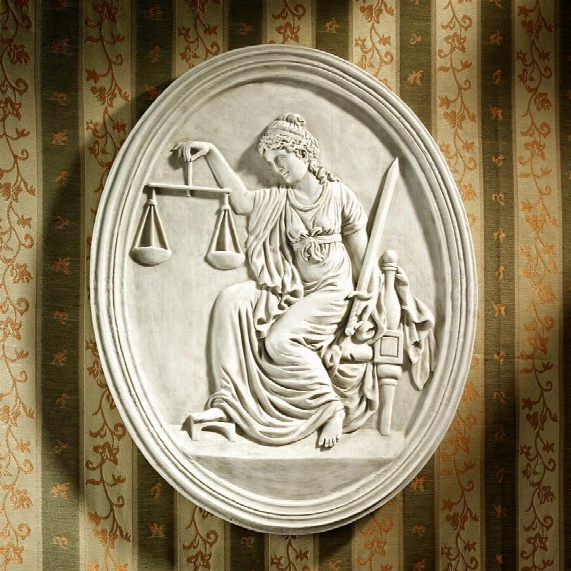 "Old Bailey Courthouse Lady Justice"" Wall Sculpture"