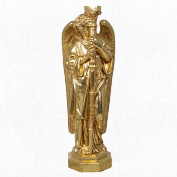 Padova Golden Guardian Angel Sculpture: Left