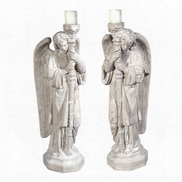Padova Guardian Angel Statues: Set Of Left & Right