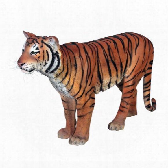 Mighty Pounce: Sumatran Tiger Statue