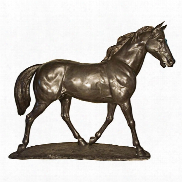 Pride And Power Horse Cast Bronze Garden Statue