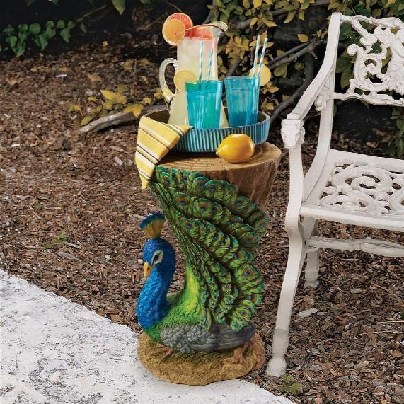 Provocative Peacock Sculptural Garden Table