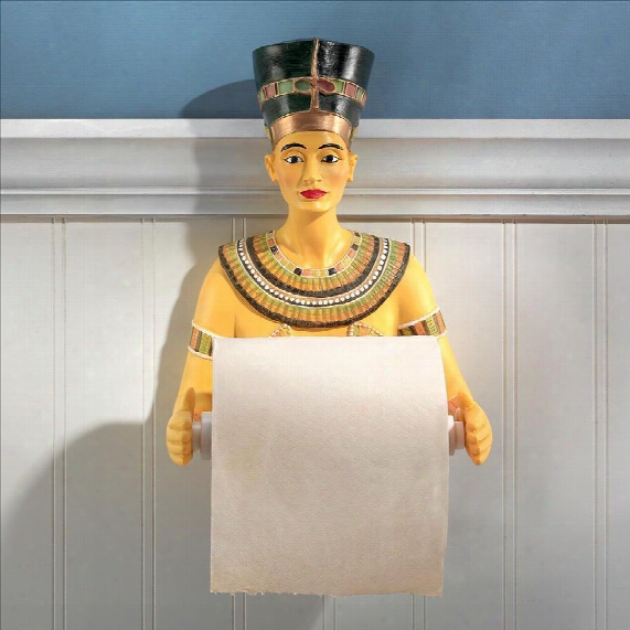 Queen Nefertiti Royal Athroom Toilet Paper Holder