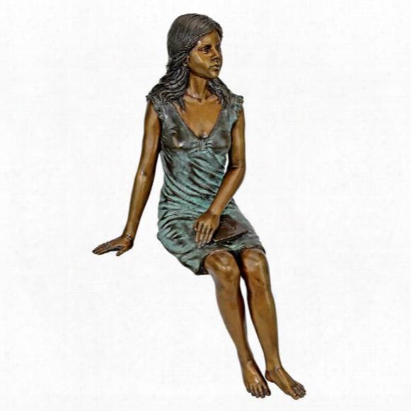 Reading Rosalind Sitting Lady Cast Bronze Garden Statue
