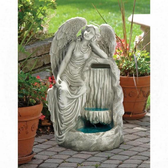 Resting Grace Angel Garden Fountain