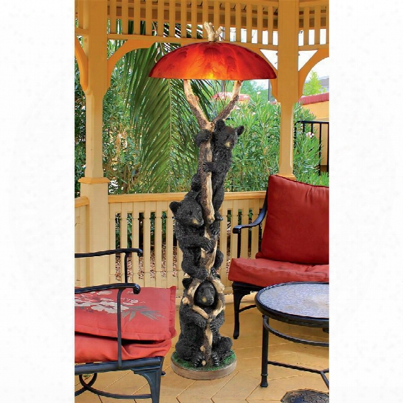 Setting Sun Black Bear Sculptural Floor Lamp