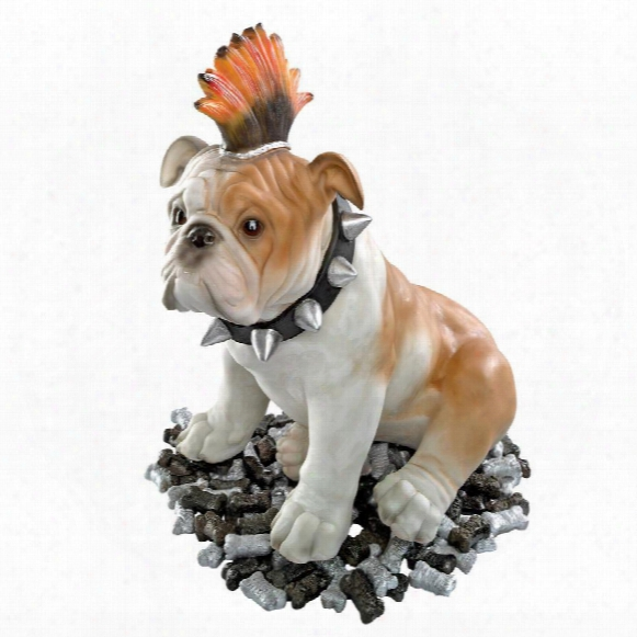 Sid Victorious Punk Bulldog Statue