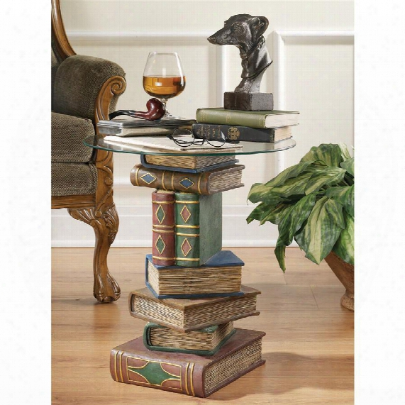 Stacked Volumes Sculptural Glass-topped Book Table