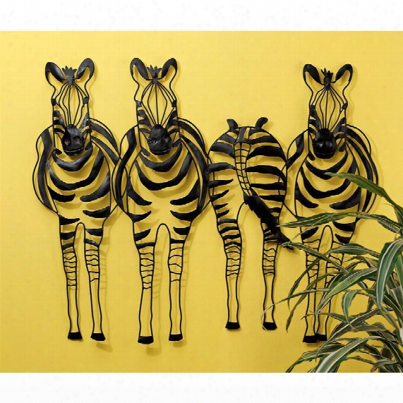 Static Stripes Sculptural Zebra Wall Frieze