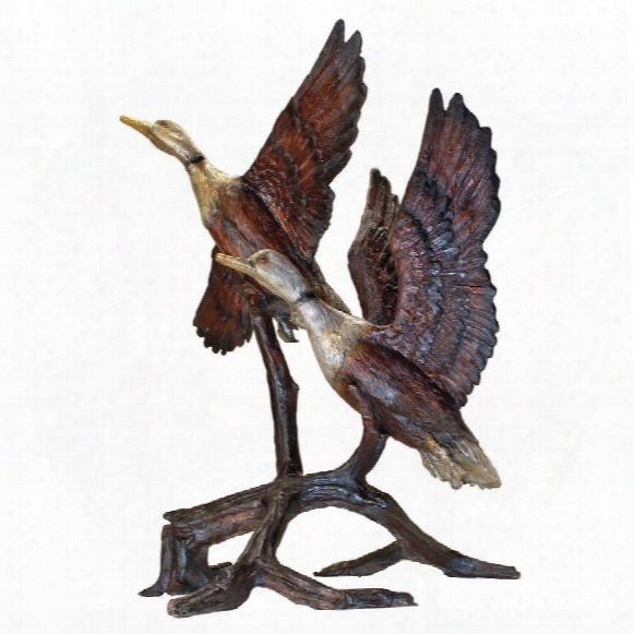 Steep Climbing Ducks Cast Bronze Garden Statue