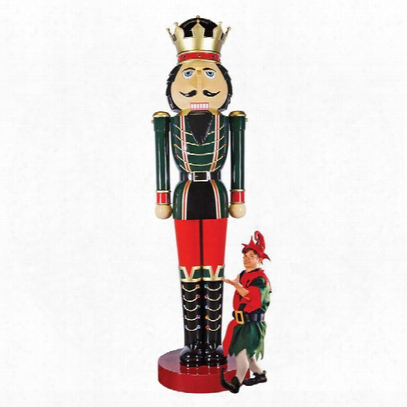 Super-scaled Holiday Nutcracker Statue