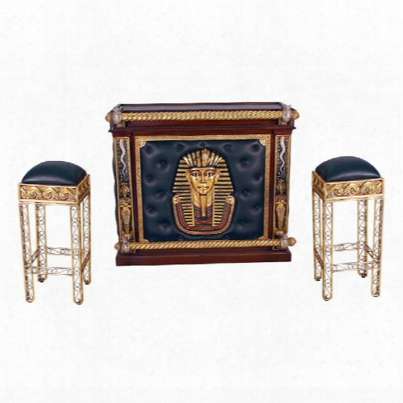 The Altar Of Tenenit: Egyptian Bar With Two Barstools