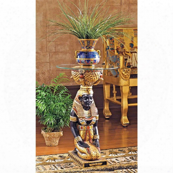 The Egyptian Goddess Eset Glass-topped Table