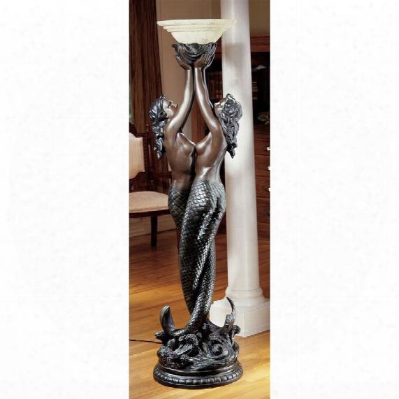 The Entwined Mermaids Sculptural Floor Lamp
