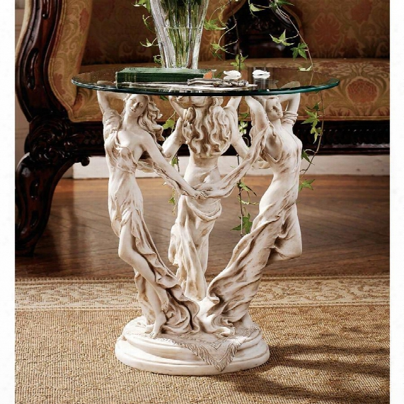 The Muses Glass-topped Sculptural Table