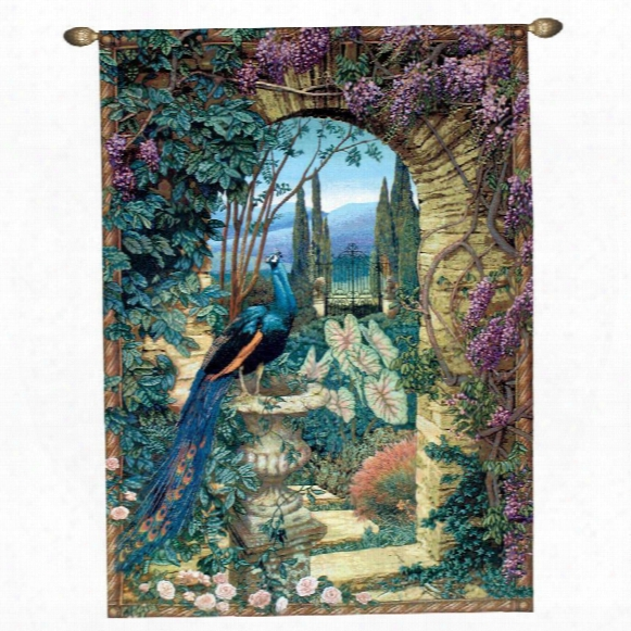 The Peacock's Garden Wall Tapestry: Grand