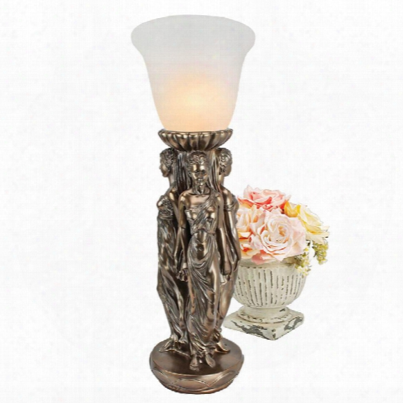 Three Graces Tabletop Torchiere Lamp
