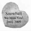 Personalized Heart-Shaped Cast Stone Pet Memorial Statue: Large