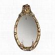 The Spirit of Tutankhamen: Egyptian Oval Mirror Wall Sculpture