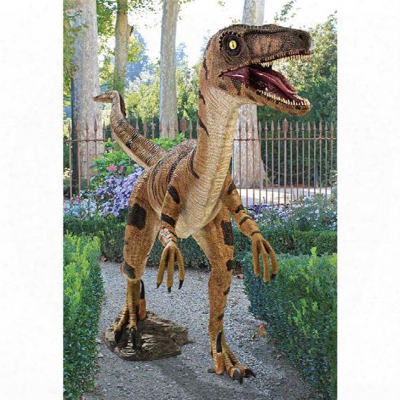 Velociraptor, Jurassic-sized Dinosaur Statue
