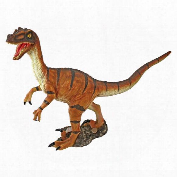 Velociraptor Scaled Dinosaur Statue