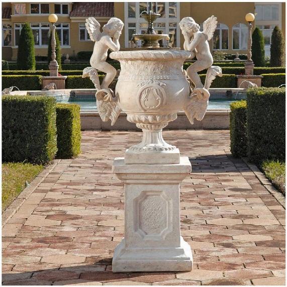 Versailles Cherub Urn & Plinth