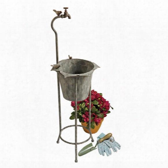 Vintage Faucet Garden Planter